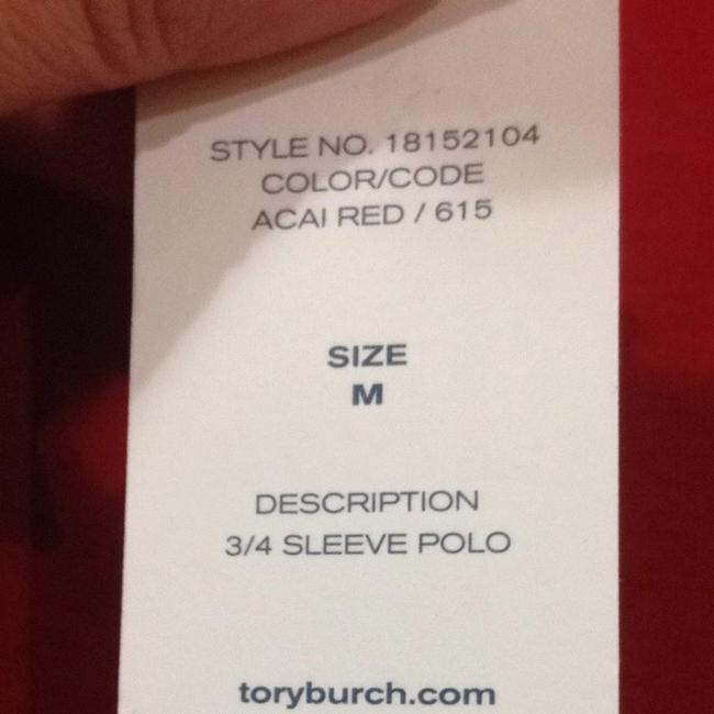 Tory Burch Button Down Shirt Acai Red