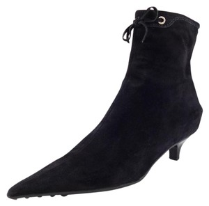 The Original Car Shoe Suede Zip Up Women's Black Boots