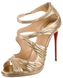 Christian Louboutin Hardware Metallic Kashou Gold Sandals