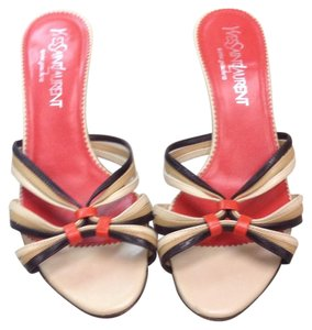 Saint Laurent Beige orange & brown Sandals