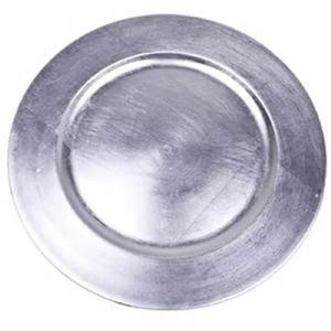 Silver 125 Acrylic Charger Plates Tableware