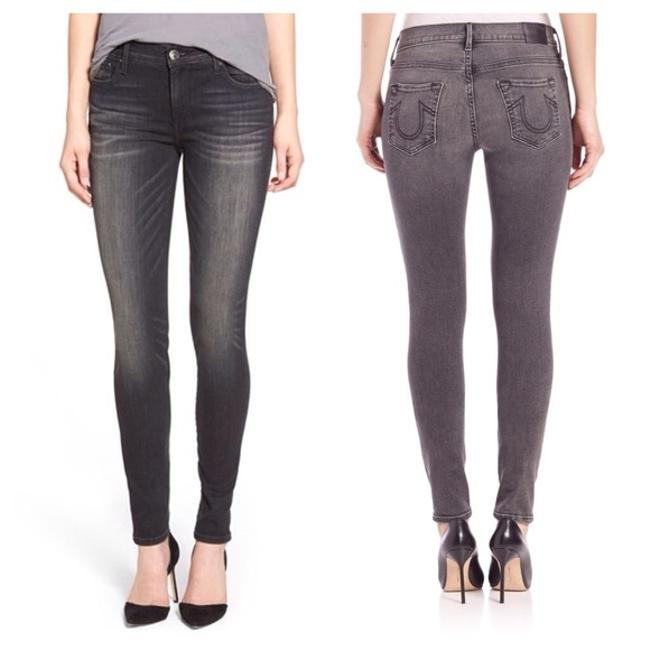 Item - Fade Gray Distressed Stevie Skinny Jeans Size 24 (0, XS)