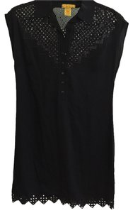 Catherine Malandrino short dress Black Cut-out Snap Buttons on Tradesy
