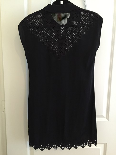 Catherine Malandrino short dress Black Cut-out Snap Buttons Button Down on Tradesy