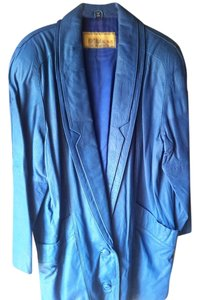 D'Linia by Casablanca Royal blue Leather Jacket