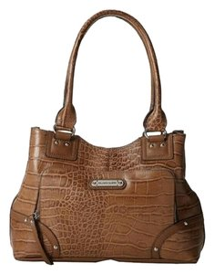 Franco Sarto Crocodile Leather Handbag Leather Shoulder Bag