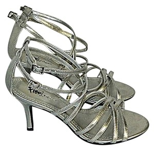 Fioni Night Strappy Vegan Evening Silver Sandals