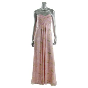 Adrianna Papell Strapless Chiffon Dress