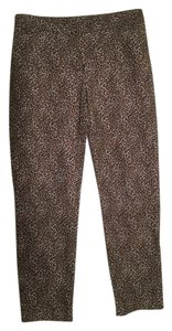 White House | Black Market Straight Pants Black and Brown Leopard Print