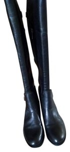 Vince Camuto Black Tumbled Vintage Boots