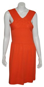 MILLY short dress orange on Tradesy