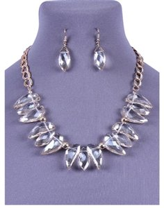 Dina Aziza Chic Statement Necklace & Earring Set