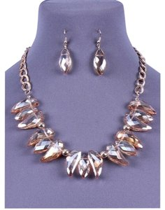Dina Aziza Gorgeous Statement Necklace & Earring Set