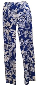 Lilly Pulitzer Wide Leg Pants Royal blue and white
