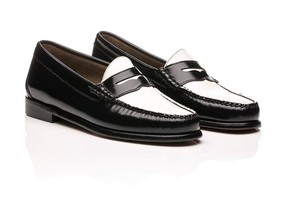 G.H. Bass & Co. Penny Loafer Black & White Flats