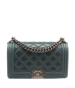Chanel A66383 Le Boy Quilted Lambskin Leather Shoulder Bag