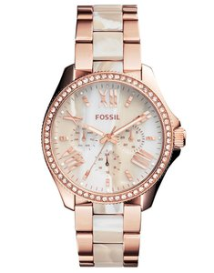 Fossil Fossil Women's Cecile Rose-Tone & Horn Acetate Watch AM4616