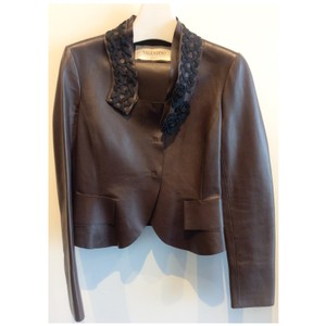 Valentino Brown Leather Jacket