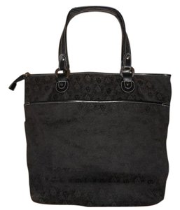 Anne Klein Two-tone Tote in Black/Brown