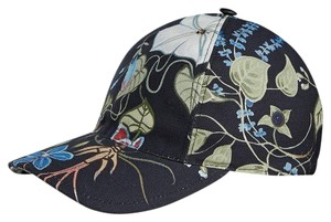 Gucci New Gucci Black Flora Knight Canvas Baseball Hat Size L 372689 1000