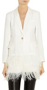 Elizabeth and James Feather White Blazer