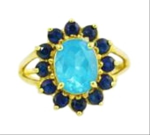 Other Antique Topaz Flower Ring, 10k Yellow Gold, Gemstone Jewelry