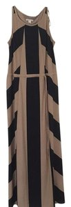 Black, Tan Maxi Dress by Coldwater Creek