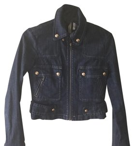 BCBGMAXAZRIA Denim Womens Jean Jacket