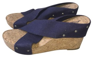 Lucky Brand Navy Wedges