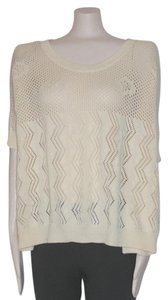 Anthropologie Knit Poncho Blue Sweater