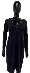 Susana Monaco Long Sleeve Empire Waist Knee Length Dress