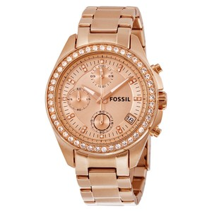 Fossil Fossil Women's Decker Chronograph Rose-Tone Watch ES3352