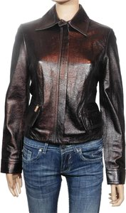 David Meister Plum Leather Jacket