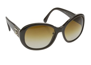 Chanel Brown 5235 Q Quilted Leather Turnlock Sunglasses