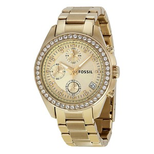 Fossil Fossil Women'sDecker Chronograph Gold-Tone Watch ES2683