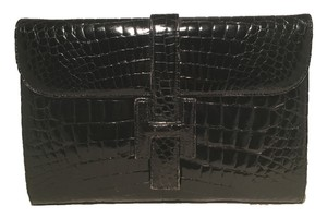 Eileen Kramer Alligator Black Clutch