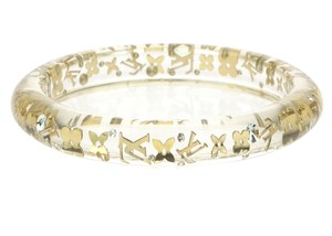 Louis Vuitton Clear Resin Swarvoski Inclusion PM Bracelet