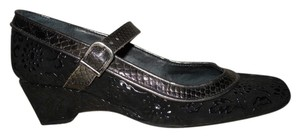 Helle comfort Leather black Wedges