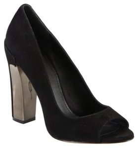 Brian Atwood Black and Silver Pumps