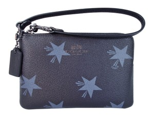 Coach Star Canyon Corner Zip Phone Blue Wristlet in Blue Multi