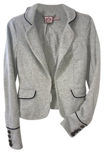 Juicy Couture Military Fitted Gray w/Black Piping Blazer