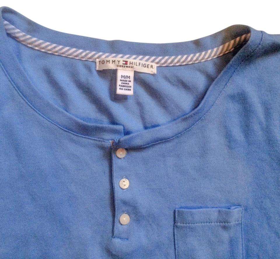 Tommy hilfiger blue style tee shirt size 8 m tradesy for Tommy hilfiger shirt size chart