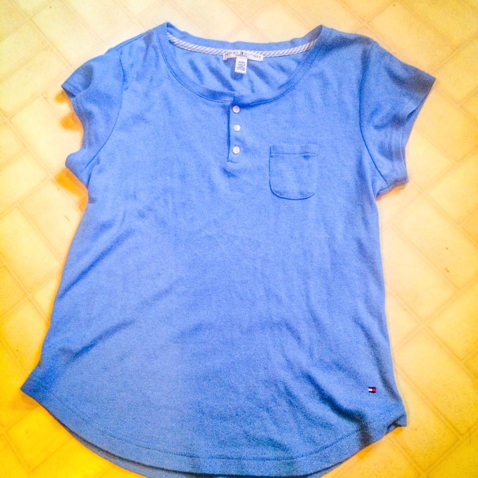 Tommy hilfiger blue style tee shirt size 8 m tradesy for Tommy hilfiger shirt size