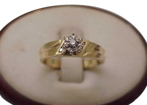Estate Vintage 14K Yellow Gold .20ct Diamond Engagement Ring