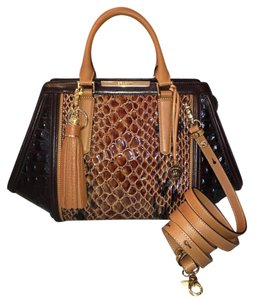 Brahmin Cocoa Fall Colors Satchel in NWT, TOBACCO CARLISLE ARDEN