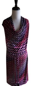 Natori short dress Pink and Purple New Print Sleeveless on Tradesy