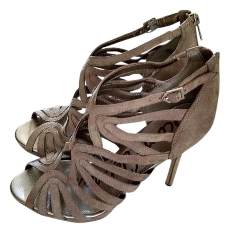 5ac4ebd7f89a Sam Edelman Nude Suede Eve Caged Sandals Size US 8.5 Regular (M
