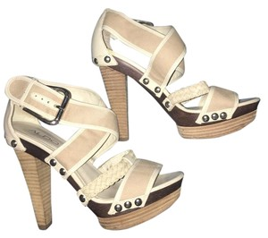 ALDO Studded Wood Cream Platforms