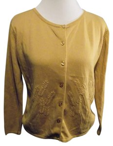 Crystal-Kobe Solid Petite Classic Cardigan Button Front Sweater