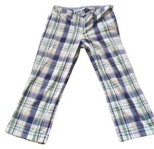Tommy Hilfiger Capris Blue, green, tan, white, red